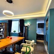 三室一厅简约客厅吊顶装饰