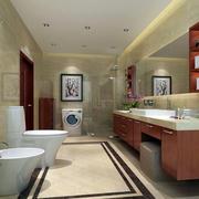 中式别墅卫生间效果图