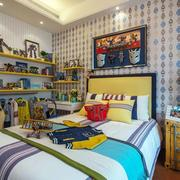 地中海风格卧室背景墙样板房