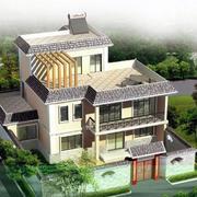 农村二层房屋俯视案例