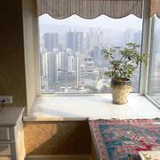 简约高层飘窗窗帘装饰