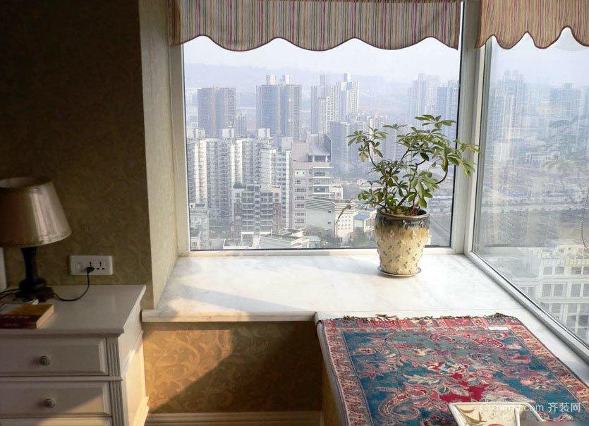 别有一番韵味:唯美飘逸的大户型飘窗窗帘装修效果图实例鉴赏