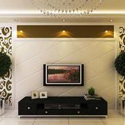 后现代风格浅色背景墙装饰
