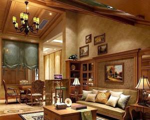 美式斜顶阁楼装饰