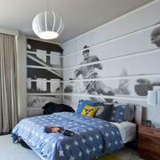 美式男生儿童房设计