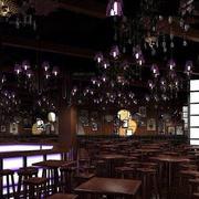 美式创意酒吧吊顶装饰