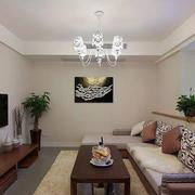美式简约客厅沙发装饰