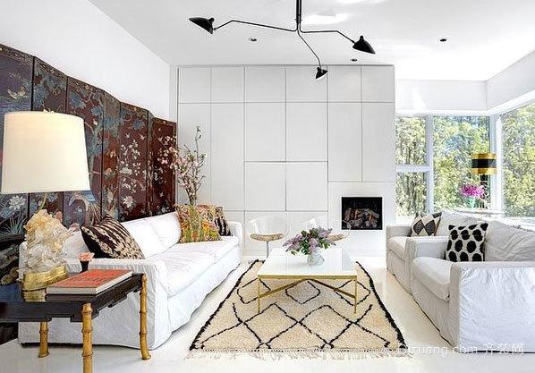 追求软装的美式自然、清新样板房装修效果图