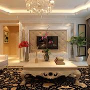 三室一厅欧式客厅地毯设计