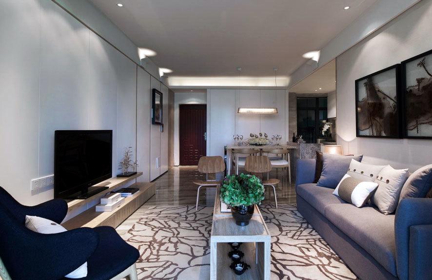 灵动自由的120平米三居室婚房装修效果图