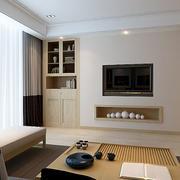 两室一厅简约原木茶几装饰