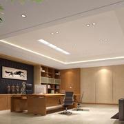 中式原木浅色办公室背景墙