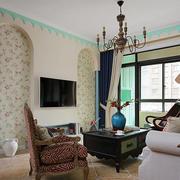 地中海简约风格客厅电视背景墙