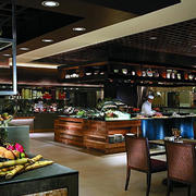 新中式风格自助餐厅桌椅装饰