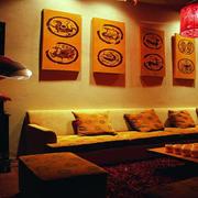 欧式简约风格酒吧沙发装饰