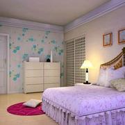 卧室绿色简约风格壁纸设计