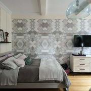 小户型浅色卧室背景墙