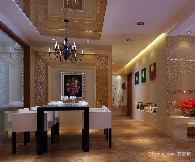 新鲜感十足的创音大户型欧式餐厅背景墙装修效果图鉴赏