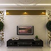 后现代风格石膏板电视背景墙