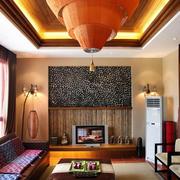 样板房客厅吊顶装饰