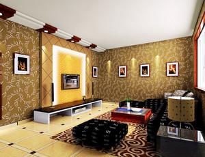 养眼好设计:都市舒适的大户型客厅背景墙效果图鉴赏实例