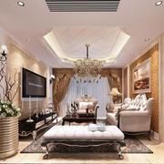 小户型简约欧式客厅吊顶装饰
