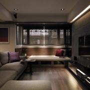 三室一厅简约风格客厅沙发装饰