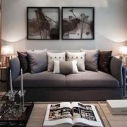 婚房客厅沙发背景墙设计