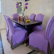 三室一厅紫色系餐桌装饰