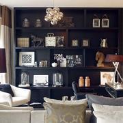 两层房屋客厅置物架装饰