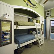 美式上下铺儿童房设计