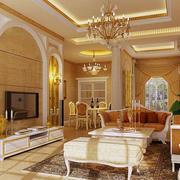 欧式奢华客厅背景墙设计