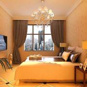 欧式深色系卧室效果图
