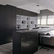 后现代简约风格公寓客厅置物架装饰