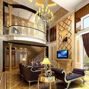欧式别墅客厅奢华沙发装饰