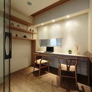 中式简约风格婚房沙发置物架设计