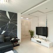 客厅简约风格沙发背景墙