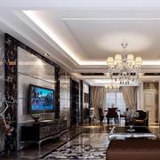 小户型欧式客厅大理石背景墙