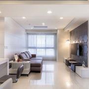 简约风格公寓皮制沙发装饰