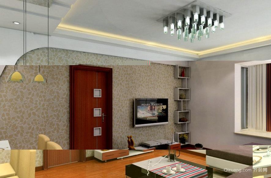大户型豪华大气的客厅石膏板吊顶装修效果图实例鉴赏