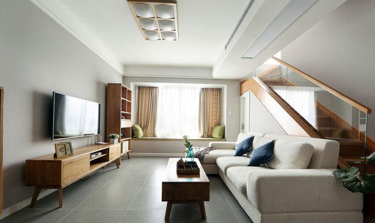 现代小家混搭日式格调客厅装修效果图欣赏