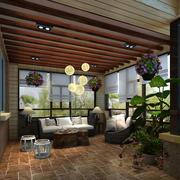 别墅室内庭院装饰