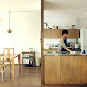 混搭风格原木厨房设计