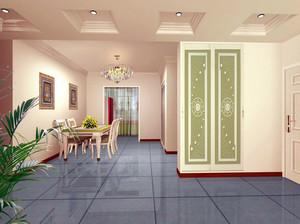 韩式清新客厅衣柜装饰