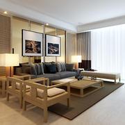两室一厅实木沙发设计