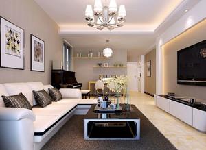 色调中透着淡雅:都市时尚的简欧风格客厅装修效果图鉴赏