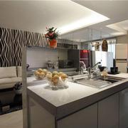婚房现代简约风格厨房吧台装饰