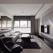公寓客厅后现代风格电视背景墙