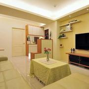 两室一厅客厅电视背景墙