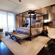 简约风格美式卧室墙饰